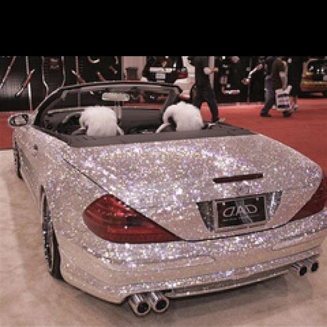 pink glitter car after your vegas wedding drive off into the sunset with