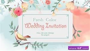 Videohive fresh color wedding invitation free after for Wedding invitation videohive free download