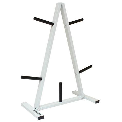 standard weightbarbell disc standtree plate gym storage rack  post holder ebay