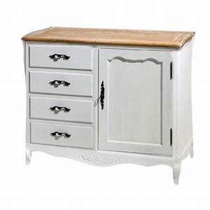 Mobile dispensa per cucina o sala da pranzo stile country in legno 4 cassetti e anta cm 84