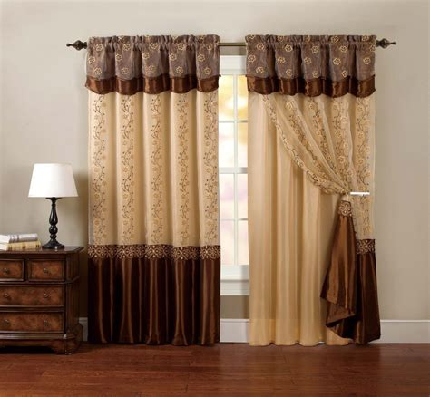 one window curtain drapery sheer panel chocolate