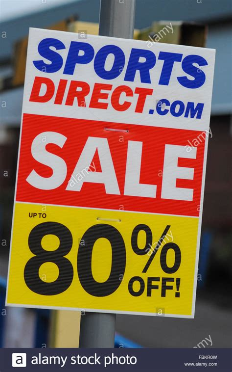 sports direct sale sign stock photo royalty  image