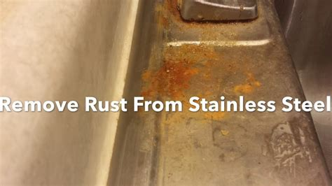 remove rust   stainless steel sink clean