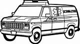 Coloring Ambulance Pages sketch template