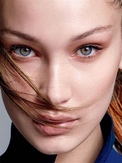 Bella Hadid Eyes Face Portrait Colorful Wallpapers