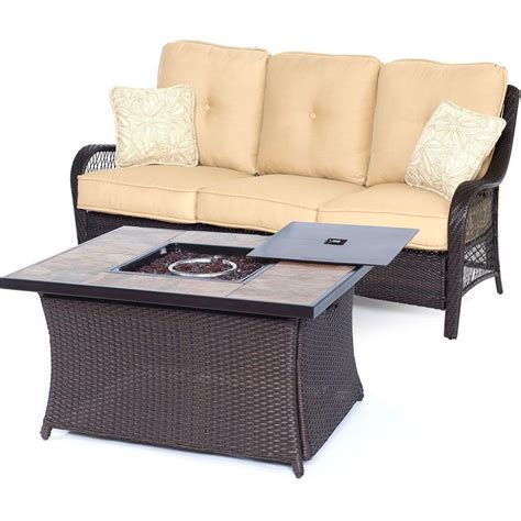 hanover orleans 2 all weather wicker patio pit