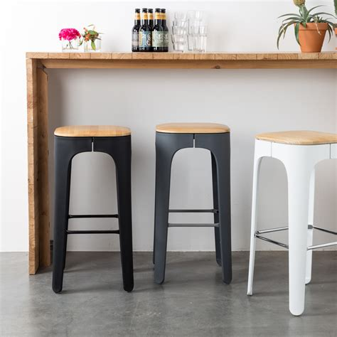 bar cuisine bois tabouret de bar bois up high by drawer