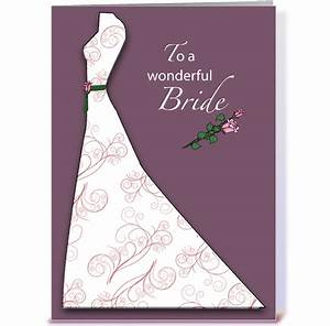 Bridal shower plum dress congratulations greeting card by for Card for wedding shower