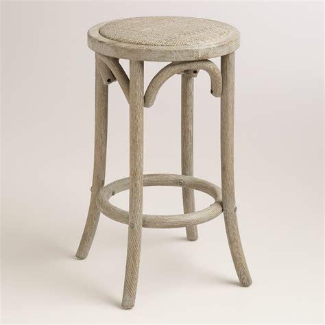 backless counter stools wood and rattan syena backless counter stool world market 1419