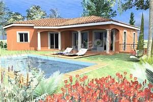 Awesome plan de maison tage plan de maison en v provenale for Awesome plan maison entree sud 5 plan de maison bartavelle