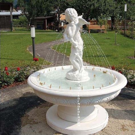 Fontaine Exterieur En Pierre De Jardin Anjo Jets D'eau-a