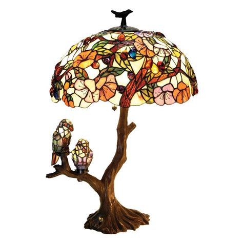 tiffany style table ls shop chloe lighting birds 29 in dark antique bronze table