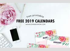 free 2019 printable calendars free download printable