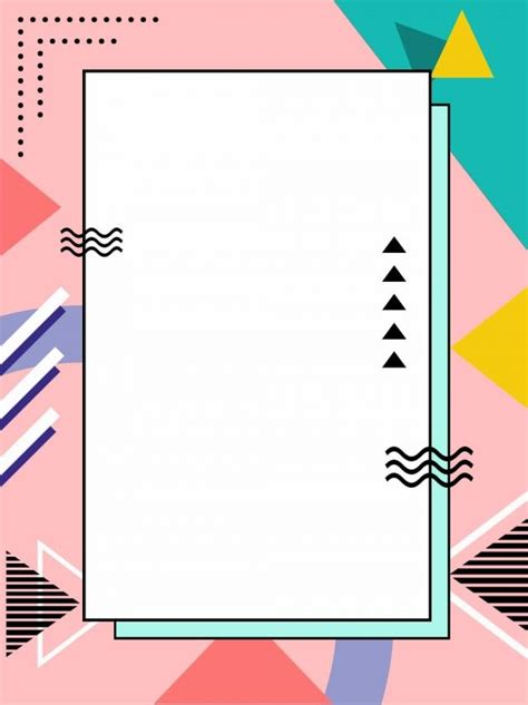 polygonal cute wind memphis background   graphic