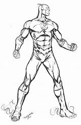 Coloring Pages Flash Superhero sketch template