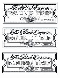 Free coloring pages of golden ticket blank for Polar express golden ticket template