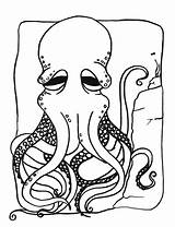 Octopus Coloring Pages Print Printable Sad Bestcoloringpagesforkids Scary Face Funny Getcoloringpages Mind Creative sketch template