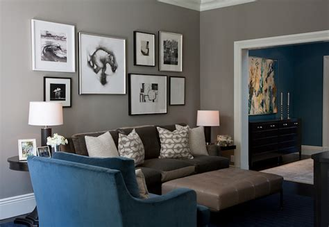 taupe and blue living room ideas gray velvet sofa contemporary living room kendall