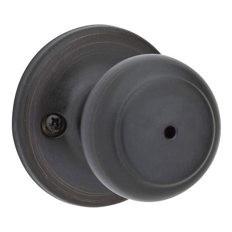 shop kwikset cove venetian bronze turn lock privacy