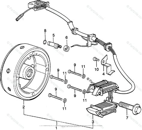 honda motorcycle with no year oem parts diagram for alternator partzilla