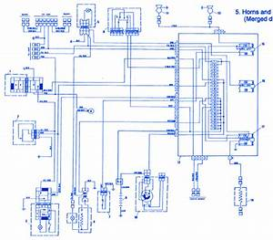Fiat X1-9 1986 Horn Electrical Circuit Wiring Diagram