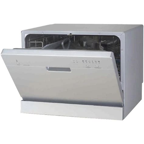 small countertop dishwasher spt dishwashers countertop dishwasher in silver with 6