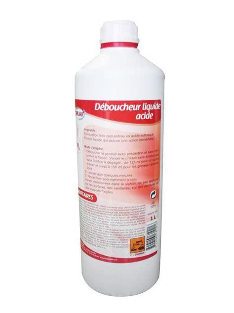deboucher canalisation acide sulfurique d 233 boucheur canalisation et siphons liquide acide sulfurique db 1 litre hyprodis