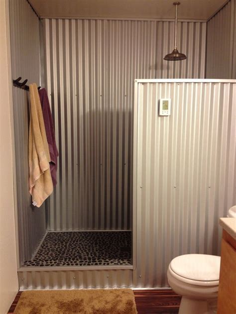 Hometalk   Anyone use barn tin for a shower?