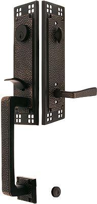 arts crafts style tubular handleset  choice  interior knob  lever house  antique