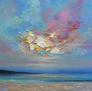 Colourful Ocean Sea Sky Cloud Sunrise Sunset Beach art painting by Canadian Contemporary ...