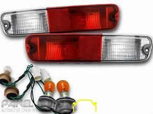 Mitsubishi Np Pajero Tail Light In Bar 02- U0026 39 06 Pair Rear Bumper Lamp  U0026 Wiring L U0026r