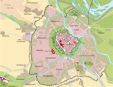 maps vienna austria imperial residence city circa