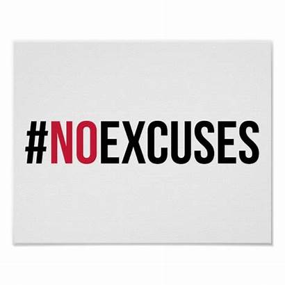 Excuses Gym Quote Poster Posters Weight Lifting