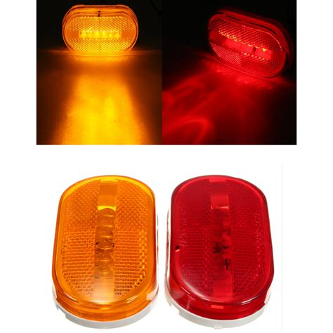 amber led marker lights car truck red yellow amber 6 led beads rectangle clearance