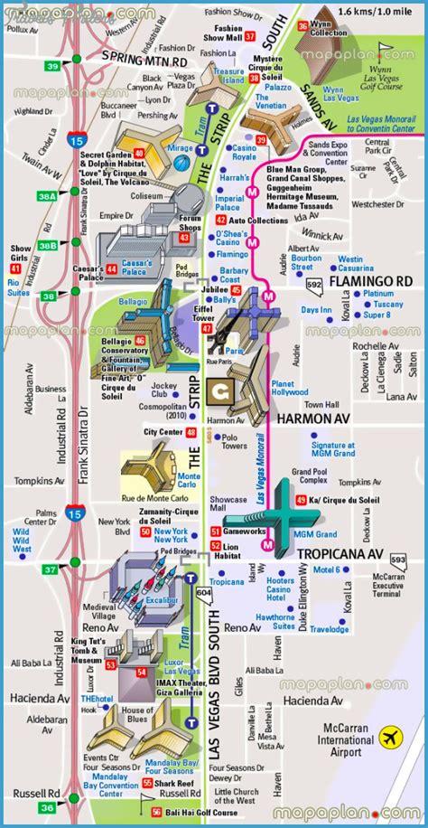 Image Of Strip Hotel Map Las Vegas Hotels Printable