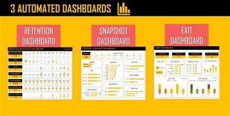 employee retention dashboard google sheet template indzara