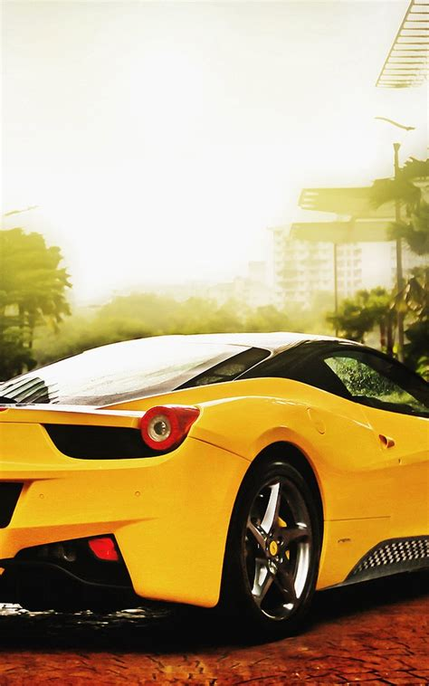 Yellowferraricarmobilehd Wallpaper Wallpapers