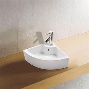 Waschbecken Gäste Wc : eck keramik waschbecken g ste wc 46x32 cm badkeramik ~ Michelbontemps.com Haus und Dekorationen