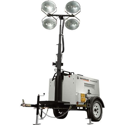 magnum light towers generac magnum mlt4150mv mobile light tower 15 000 watts