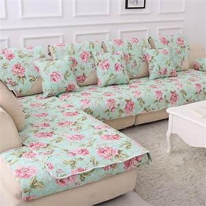 100 cotton corner blanket printed funda sofa cover for Universal sectional sofa slipcovers