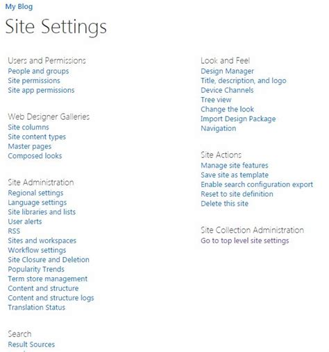 Blog In From Oter Template by Site Template Part 2 Blogs In Sharepoint 2013 Or Office 365