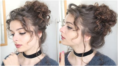 giant messy curly bun loepsie