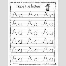 26 Printable Trace The Alphabet Worksheets Preschoolkdg Etsy