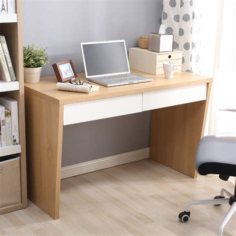 bureau laptop chao soil texture simple oak desk desktop home computer
