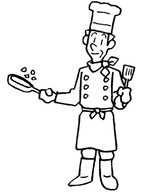 jeux de cuisine en ligne gratuit sélection de dessins de coloriage cuisinier à imprimer sur