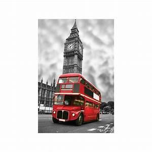 Tableau Deco Noir Et Blanc : tableau d co toile london bus rouge en face de big ben en noir et blanc ~ Teatrodelosmanantiales.com Idées de Décoration