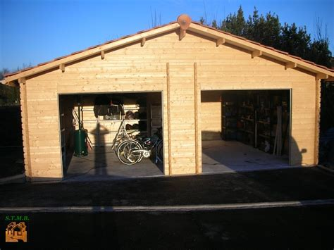 garage en bois 2 voitures stmb construction chalets bois com