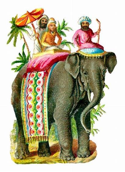 Elephant Asian Illustration Digital Clip Animal Riders