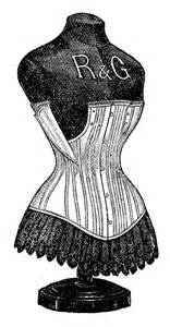 graphic dress form with corset the graphics