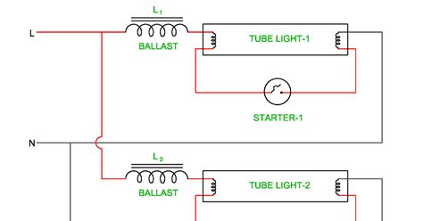 Wiring Diagram Twin Tube Light Electrical Revolution